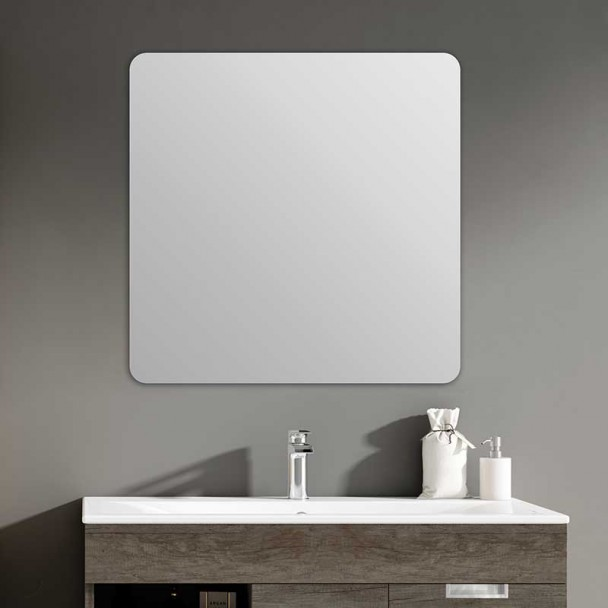 Miroir de salle de bains Zoom Carré