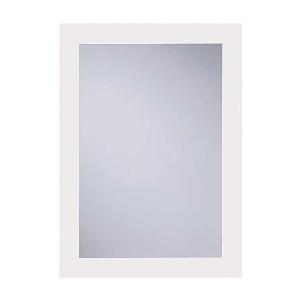 Miroir de salle de bain Luna Blanc 55x75 cm