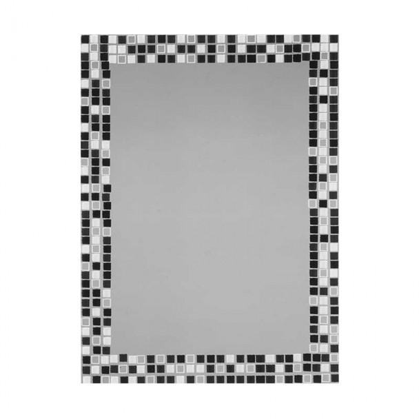 Miroir de salle de bains de la Lune Carreaux Noir-Blanc 55x75 cm