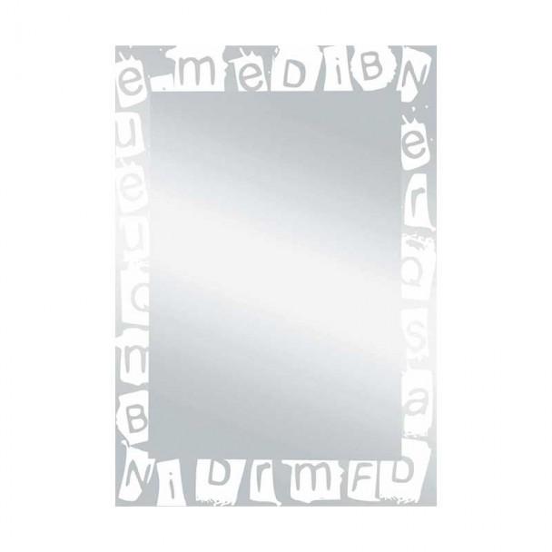 Miroir de salle de bain de Lune Paroles Blanc 55x75 cm