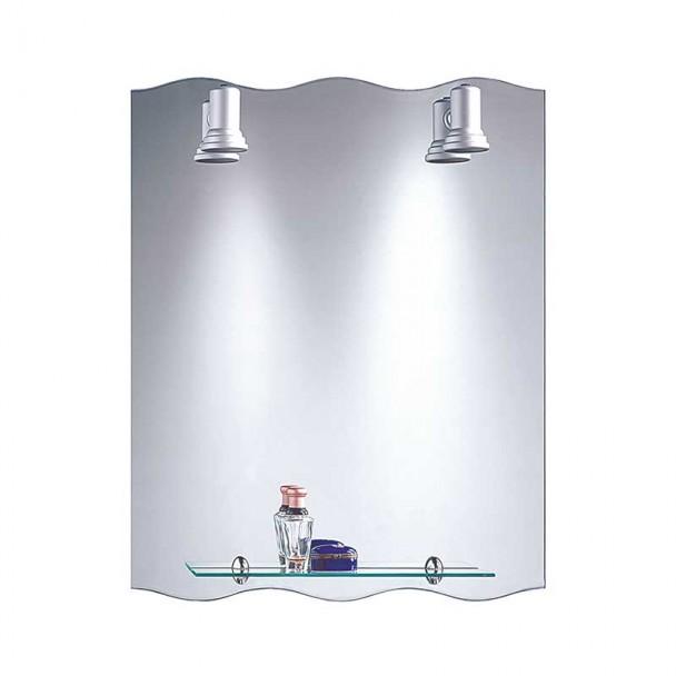 Miroir de salle de bains avec des Projecteurs Baléares Vague 60x75 cm
