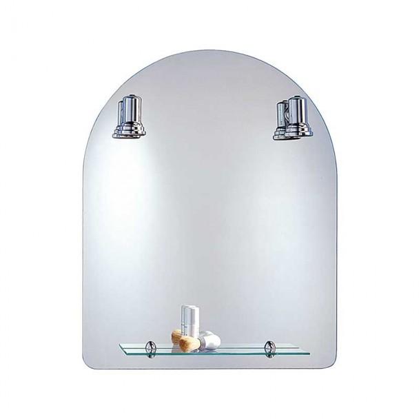 Miroir de salle de bains avec des Projecteurs Baléares Arc 60x75 cm
