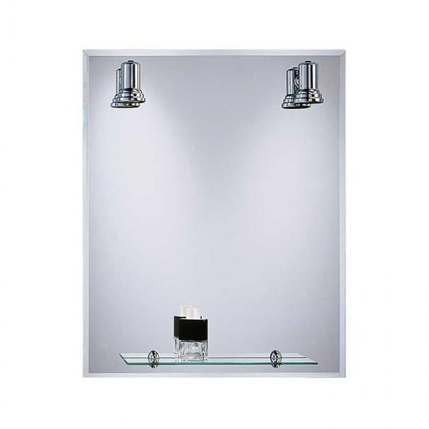 Miroir de salle de bains avec des Projecteurs Baléares Lunette 60x75 cm