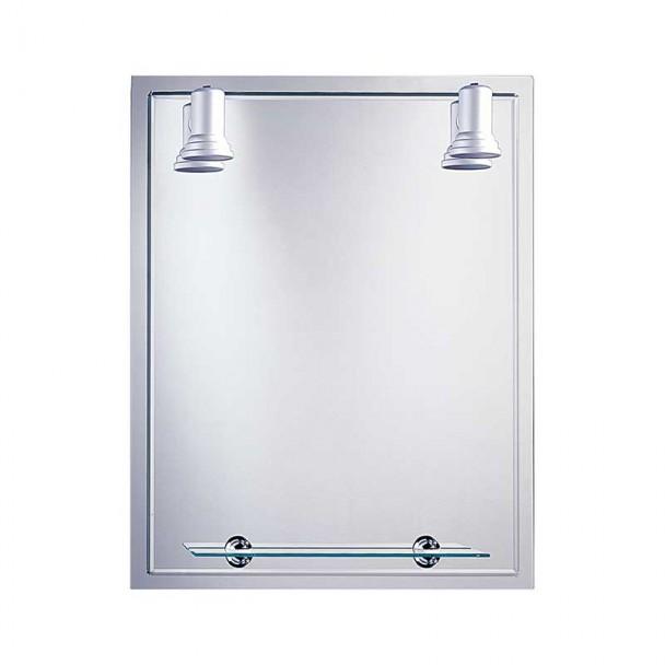Miroir de salle de bains avec des Projecteurs Baléares Cadre 60x75 cm