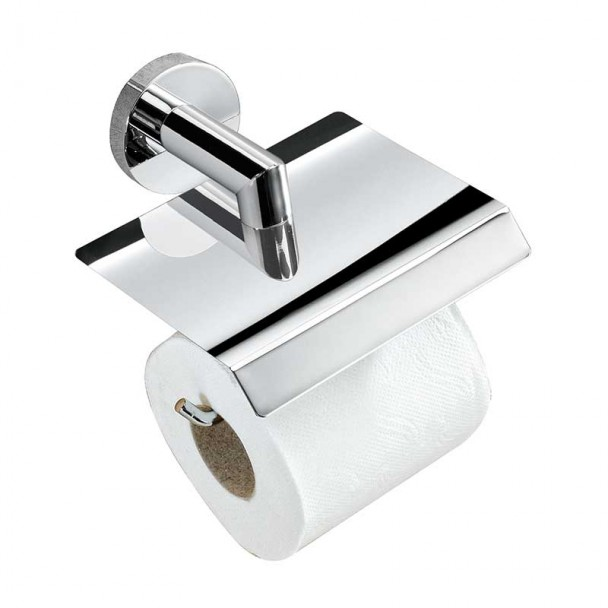 Toilettes porte-rouleau avec Couvercle Série de Chrome Bon
