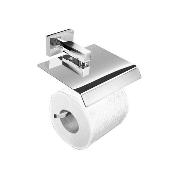 Toilettes porte-rouleau avec Couvercle Série de Chrome Rivière