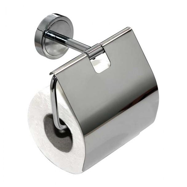 Toilettes porte-rouleau avec Couvercle Série de Chrome Brillant