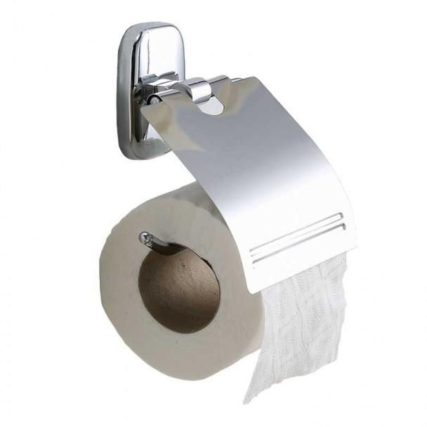 Toilettes porte-rouleau avec Couvercle Série de Chrome Royal