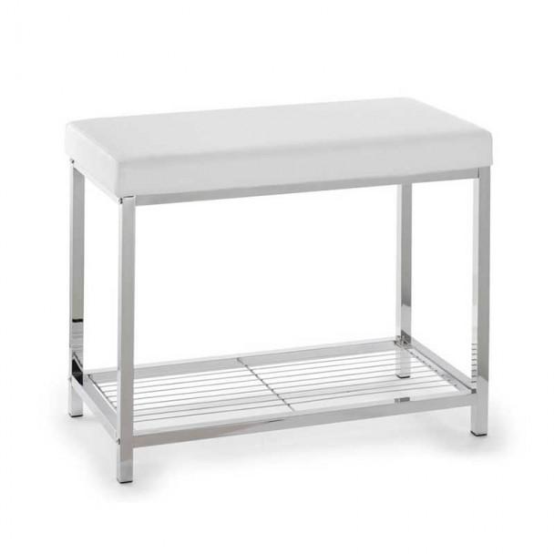 Trottoir Rectangulaire Blanc-Chromé pour salle de Bains