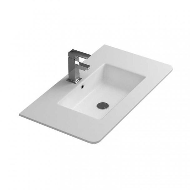 lavabo de comptoir dame pour la salle de bains. Black Bedroom Furniture Sets. Home Design Ideas