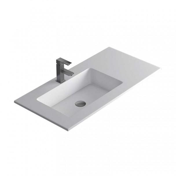 Lavabo de comptoir ambre d plac la salle de bain for Lavabo salle de bain petite taille